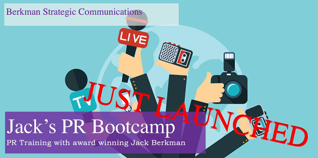 Jack Berkman PR Bootcamp